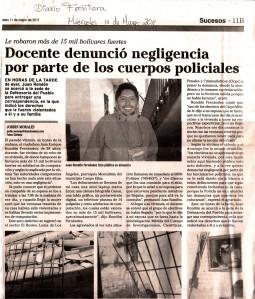 Publicado en el Diario Frontera