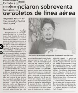 Denuncia Aparecida en Diario Pico Bolívar el 8 de septiembre de 2011