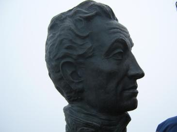 Busto de Bolívar en la Cumbre