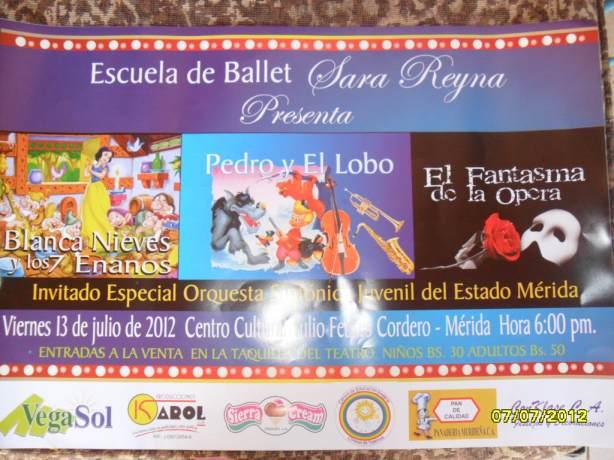 Espectaculo de Ballet, Escuela Sara Reyna