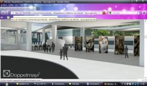 Reder usado por Doppelmayr para promocionar el aspecto de la estación Barinitas del Sistema Teleférico de Mérida. Hay obras de Ivan Henández mutiladas