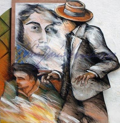 Tiempos de Cambios. Esta obra aparece mutilada en los Renders de Doppelmayr usados para promocionar el aspecto final de la Estación Barinitas del Sistema Teleférico de Mérida