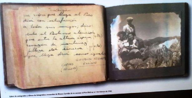 Detalle del libro de fotografías de Blanca de las Nieves
