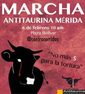 A marchar en contra de las corridas de toros y la asignación de dolares al espectáculo taurino